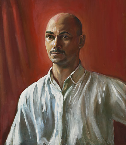 Man with a white shirt